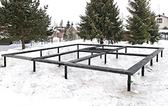 Монтаж свай в Новосибирске в зимний период выполняется всего за один день! Винтовые сваи в Новосибирске.