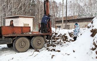 Зимний монтаж винтовых свай в Новосибирске. Винтовые сваи купить в Новосибирске у компании АС-ВинтБур выгодно!