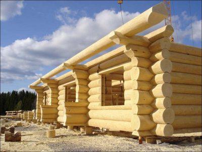 Строительство домов в Новосибирске. Строительство домов из бруса в Новосибирске на винтовых сваях.
